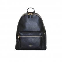 Balo Coach Saddle New Women's (F29004) Charlie Pebble Black Leather Backpack