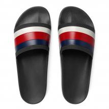 Dép Gucci Men's Pursuit '72 Rubber Slide Sandal Màu Đen