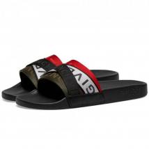Dép Quai Ngang Givenchy Flat Sandal Webbing Slide Màu Đen