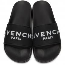 Dép Quai Ngang Givenchy Logo Slide SS20 Màu Đen