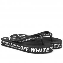 Dép Xỏ Ngón Off-White Logo Embossed Flip Flops Màu Đen