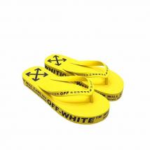 Dép Xỏ Ngón Off-White Logo Embossed Flip Flops Màu Vàng