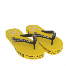 Dép Xỏ Ngón Off-White With Logo And Letterings On The Sides And Straps Màu Vàng