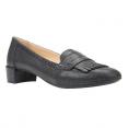 Giày Búp Bê Geox D CAREY C METAL.SYNT.LEA Mũi Đính Tua Rua Màu Đen Size 35