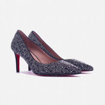Giày Cao Gót Giovanni DM019-BL Màu Đen Size 35