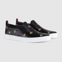 Giày Gucci Leather Slip-on Sneaker With Bees Màu Đen Size 39