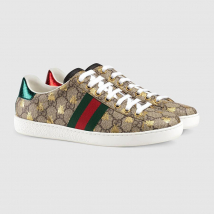 Giày Gucci Unisex Ace GG Supreme Sneaker With Bees