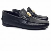 Giày Lười Loafer Versace Moca Màu Đen