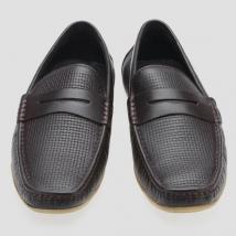 Giày Lười Sledgers SM52LF16L Màu Nâu Phối Họa Tiết Đan Size 44