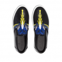 Giày Marcelo Burlon County Of Milan Wings Embroidered Slip-On Sneakers Màu Đen