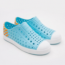 Giày Trẻ Em Native J Jefferson Block Junior (12100102) Hamachi Blue/ Shell White/ Lazer Glow Block – J1
