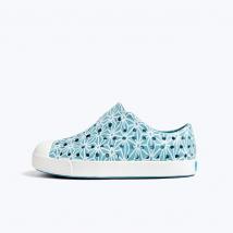 Giày Trẻ Em Native J Jefferson Print Junior (12100101) Fuji Blue/ Shell White/ Asanoha – J1