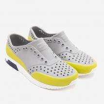 Giày Trẻ Em Native J Lennox Block Junior (12105002) Pigeon Grey/ Shell White/ Regatta Block/ Glo Glow Block – J1
