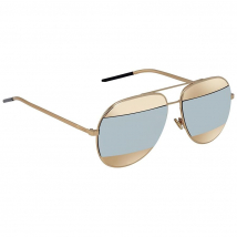 Kính Mát Dior Gold, Silver Mirror Aviator Unisex Sunglasses DIORSPLIT1 000/DC 59