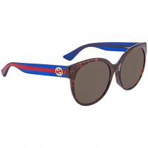 Kính Mát Gucci Brown Round Ladies Sunglasses GG0035SA 003 56