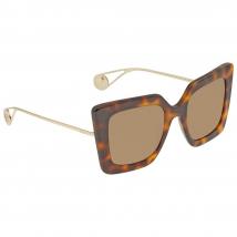 Kính Mát Gucci Brown Square Ladies Sunglasses GG0435S 003 51