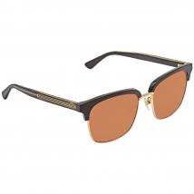 Kính Mát Gucci Brown Square Sunglasses GG0382S 002 56