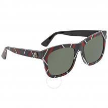 Kính Mát Gucci Green Square Ladies Sunglasses GG0032S 010 54