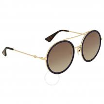 Kính Mát Gucci Round Navy Sparkle Sunglasses GG0061S 005 56