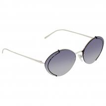 Kính Mát Prada Grey Gradient Blue Mirror Silver Oval Ladies Sunglasses