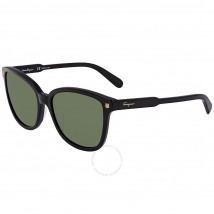 Kính Mát Salvatore Ferragamo Black Square Sunglasses SF815S 001 56