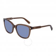Kính Mát Salvatore Ferragamo Blue Square Sunglasses SF815S 210 56