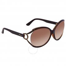 Kính Mát Salvatore Ferragamo Brown Gradient Round Sunglasses