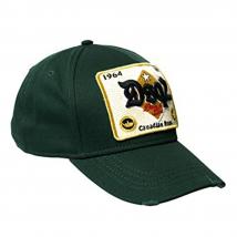 Mũ Dsquared2 D2 Baseball Cap Canadian Bros Màu Xanh Green