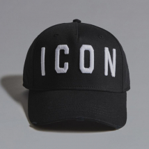 Mũ DSquared2 Icon Embroidered Baseball Cap Màu Đen