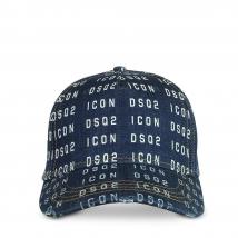 Mũ Dsquared2 Men's Icon Dsq2 Printed Denim Baseball Cap Màu Xanh Navy