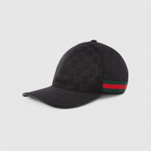 Mũ Gucci Original GG Canvas Baseball With Web Black Size M