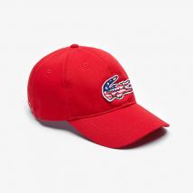 Mũ Lacoste Men's American Flag Croc Cap Màu Đỏ