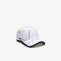 Mũ Lacoste Men's Sport Geometric Print Tennis Cap Màu Trắng