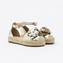 Sandal Bé Gái Pazzion BB1582-25 – GOLD – Màu Vàng Size 20