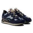 Sneakers Cao Gót Geox D SHAHIRA A SUEDE+TEXTILE Màu Xanh Navy Size 39