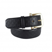 Thắt Lưng Gucci Calfskin Monogam Black 40mm Belt Size 95
