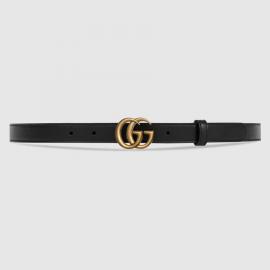 Thắt Lưng Gucci Ceinture En Cuir Avec Boucle Double G 2cm
