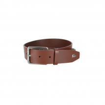 Thắt Lưng Lacoste Men's Thick Buckle Tan Leather Belt RC3012-H54