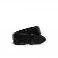 Thắt Lưng Men's Lacoste Engraved Tongue Buckle Leather Belt Black RC1644-H02