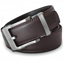 Thắt Lưng Nam Viniciobelt Holeless Leather Ratchet Click Trim To Perfect Fit Nâu Size L