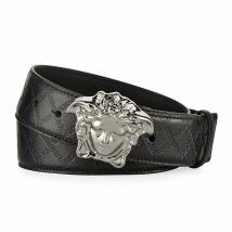Thắt Lưng Versace Men's Embossed Leather Medusa-Buckle Belt 4cm
