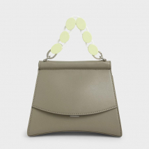 Túi Cầm Tay Charles & Keith Acrylic Handle Sculptural Bag Màu Xám