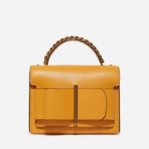 Túi Cầm Tay Charles & Keith Arco Hebilla Cadena Top Handle Bag Bolsa Transversal Màu Vàng
