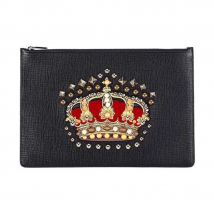 Túi Clutch Dolce & Gabbana Vương Miện Màu Đen