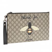 Túi Clutch Gucci Bee Print 473904 9CD1N-8666 Màu Nâu Nhạt