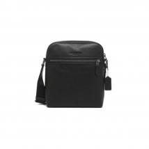 Túi Coach Houston Flight Bag Leather Black Màu Đen