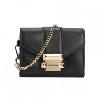 Túi Đeo Chéo Michael Kors Ladies Whitney Small Leather Chain Wallet Màu Đen