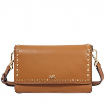 Túi Đeo Chéo Michael Kors Leather Phone Cross-Body Bag- Acorn Cho Nữ