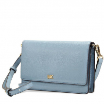 Túi Đeo Chéo Michael Kors Pebbled Leather Convertible Crossbody- Powder Blue Cho Nữ