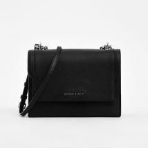 Túi Đeo Vai Charles & Keith Chain Link Embossed Crossbody Bag Màu Đen